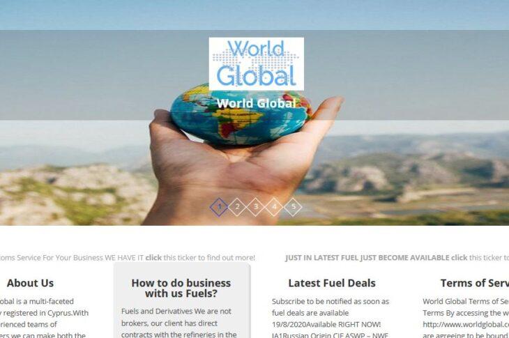 Website and Social Media Marketing for WorldGlobal.co.uk
